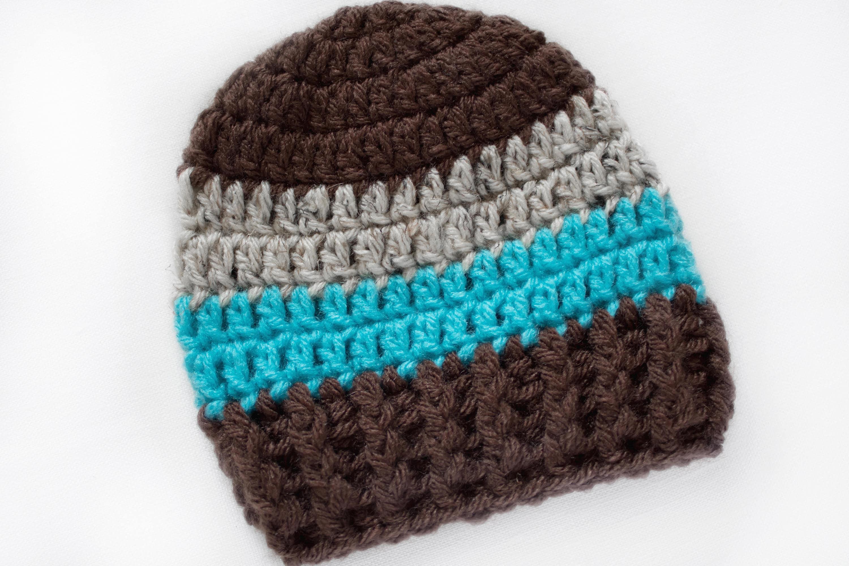 Newborn Boy Hat Boys Beanie Crochet Boys Hat Baby Boy Hat