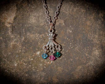 Family Birthstone Necklace with 3 Stones