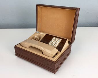 Non Working Western Electric Vintage Telephone in a Box, Deco Tel Executive 1970's Touch Tone Desk Telephone, Vintage Collectible