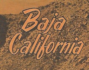 Vintage Mid Century Travel Brochure - Baja, California - Pemex Travel Club