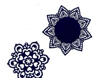 250 - Set of 2 cut-outs to decorate your cards or scrapbooking