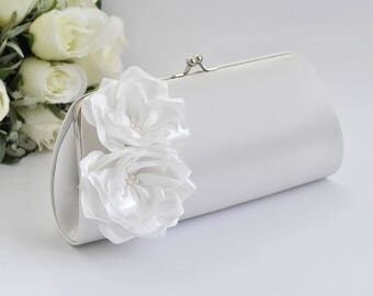 Off White Bridal Clutch