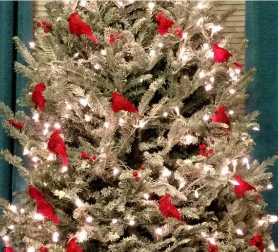 no l 6 l ornement oiseau cardinal rouge d coration plume arbre shabby rustique fran ais couronne. Black Bedroom Furniture Sets. Home Design Ideas
