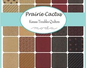 SALE 10% Off - PRAIRIE CACTUS - Fat Quarter Bundle - Kansas Troubles Quilters for Moda Fabrics - 31 FQs