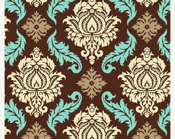 SALE 10% Off - Damask in Bark  JD43 - Joel Dewberry - AVIARY 2 - Free Spirit Fabric - By the Yard