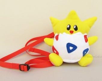 Togepi pokemon go backpack Custom made togepi plushie bag - MADE TO ORDER