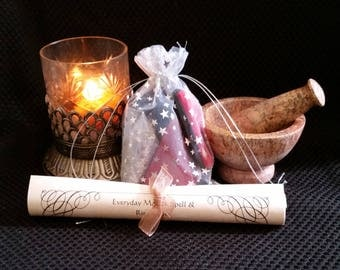 Love Pyramid Candle Spell Kit -- Everyday Magick Spell Kit To Draw Love and Desire With Pyramid Power!