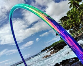 "3/4"" Urchin Melt Deco Taped Polypro Hula Hoop with Custom Diameter and Grip Options!"