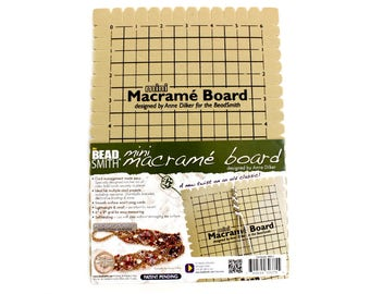 "Mini Beadsmith™ Self-Healing Foam Macrame Board with FREE Instruction Book - 6"" x 9"" with Cord Notches - Learn How to Make Hemp Jewelry!"