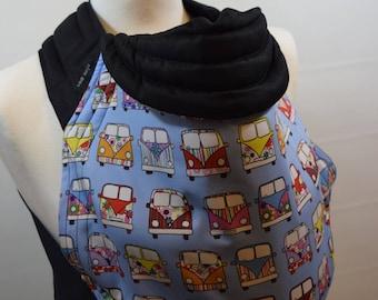 MEI TAI Baby Carrier / Sling / Reversible / Blue Camper Van / Cotton / Handmade / Made in UK