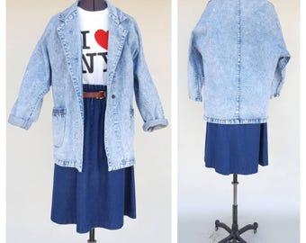 80s Jacket / Oversized Jacket / Jean Jacket