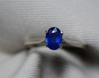 Sapphire Ring, Blue Sapphire Solitaire Ring 0.83 Carat Appraised at 625.00, September Birthstone, Natural Sapphire Jewelry, Oval Cut