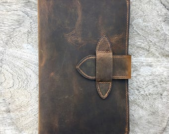 "Leather Cover for Moleskine Cahier 5"" x 8.25""  - Journal - Notebook - leather journal - leather cover - leather notebook cover - made in usa"