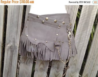 """20%OFF bohemian tribal gypsy fringed leather belt..34"""" to 42"""" waist or hips.."""