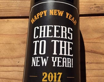 New Years Eve Wine Labels, 2017, New Years Wine Labels, New Years Wine, New Years Party, New Years Eve Favor, New Years Eve Decor, Host Gif
