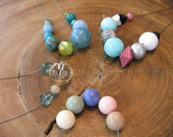 SALE on Vintage Bead Chunky Necklaces, Also Offer Bridesmaid Necklaces Made to Order W/ Vintage Beads All Alike or Differnt, Many Variations