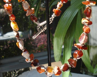 Mexican Fire Opal ~ Gemstone Necklace