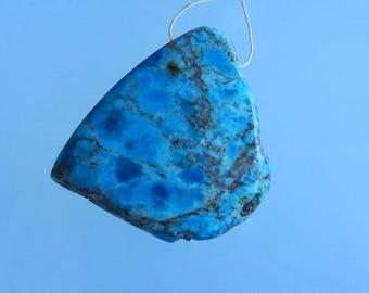 New,Natural Nugget Blue Apatite Crystal Gemstone Pendant ,56x50x11mm,56g