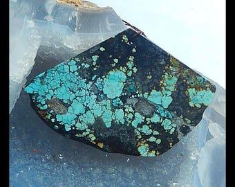 New,Nugget Turquoise Gemstone Pendant Bead,63x45x4mm,20.1g(P038)