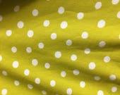 Lime Dot Knit (One Yard C...