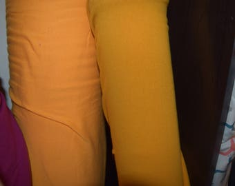 Mustard Cotton Lycra Knit Fabric