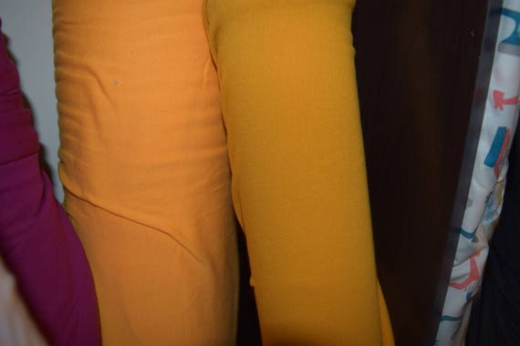 Mustard Cotton Lycra Knit Fabric