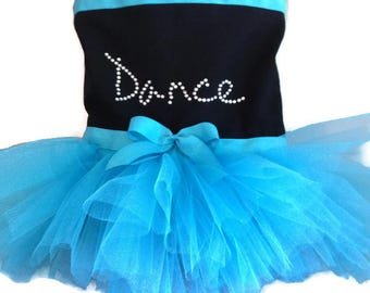 Frozen Inspired Dance Tutu Tote Bag-Turquise-Tutu Bag-Dance-Birthday-Princess-Recital Gift