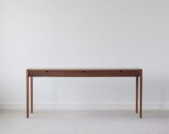 SAMPLE SALE - Garfield Pencil Desk - Walnut - Only 1 Available
