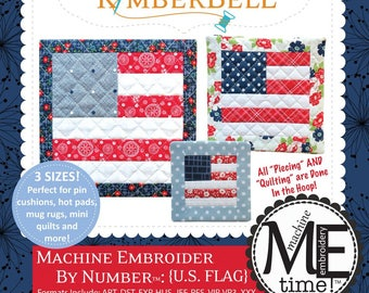Embroider by Number US Flag KD626 Machine Embroidery CD designed by KimberBell