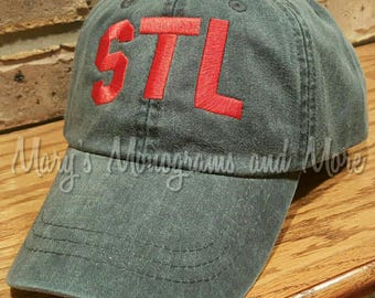 Free Shipping - STL Airport Code Hat - St. Louis Airport Code Hat - Saint Louis Hat - STL Navy Blue Ball Cap - Personalized Airport Code Hat