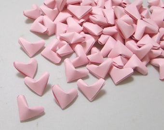 Small Origami Hearts (100) Light Pink Paper Hearts