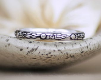 Space Wedding Band - Sterling Silver Star Wedding Ring - Outer Space Commitment Ring - Galaxy Band Ring - Celestial Wedding Band - Thin Band