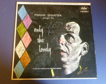 Frank Sinatra Sings For Only The Lonely Vinyl Record LP SW 1053 Capital Records 1959