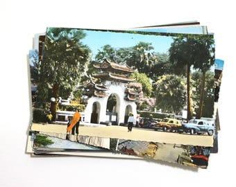 25 Vintage World Travel Chrome Unused Postcards Blank - Unique Travel Wedding Guest Book, Reception Decor, Travel Journal Supplies