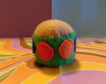Handmade Polka Dot Felt Pin Cushion by Pepperland