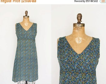 SALE // SALE vintage 1970s Dress - 70s Dress - Tiny Floral Print Sundress