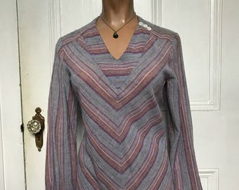 70s Vintage Sweet Baby Jane Style Gauzy Hippie Boho Top Blouse large