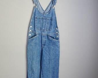 vintage denim jean xhileration bib overall dungarees -- womens ladies medium--32x29