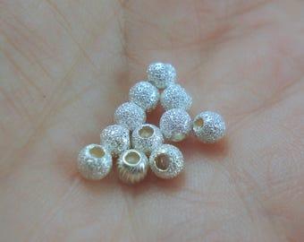 Destash Stardust Sterling Silver 4MM bead Ten Pieces