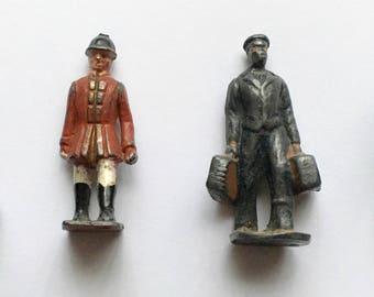 Vintage miniature lead figures.