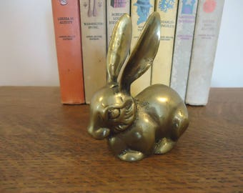 Vintage Brass Long Eared Rabbit, Figurine, brass rabbit, Long Eared Brass Rabbit