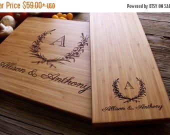 ON SALE Engraved Cutting Board, Cutting Board Set, Personalized Cutting Board, Personalized Wedding Gift, Wedding Gift, Christmas Gift