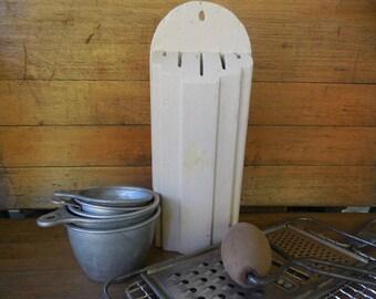 Nuway Kitchen Knife Holder, Farmhouse Chic Knife Holder, Wooden Knife Holder, Rustic Knife Holder, Depression Era Kitchen Decor, Shabby Chic