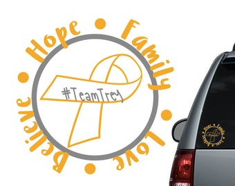 Childhood brain cancer car decal - Support cancer -