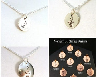 SALE CIJ2017 Choose Your UU Chalice Design Necklace in Sterling Silver
