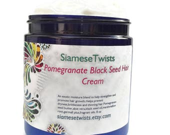Pomegranate Black Seed Hair Cream for natural hair care, hair mask,moisturizer