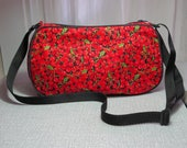 small cherry purse cherries handbag clutch bag with adjustable strap  UK seller