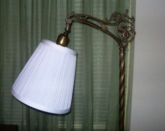 Nice White Pleated Lamp Shade for Small Bridge Lamp-Lightweight