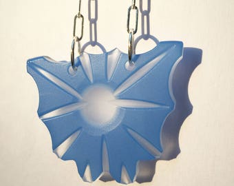 Powder Blue Medallion-style Pendant