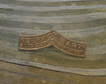 Antique Gold Tone Pin From AAA Auto Club of Michigan Service bar dr35